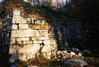 Ruins of old iron furnace at Elizabeth Furnace image. Click for full size.
