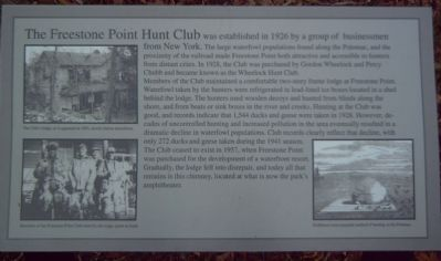 The Freestone Point Hunt Club Marker image. Click for full size.