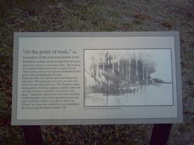 """At the Point of Rock"" Marker image. Click for full size."