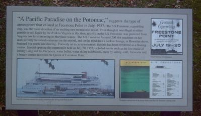 """A Pacific Paradise on the Potomac"" Marker image. Click for full size."