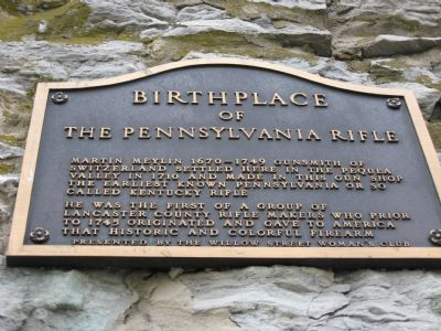 Birthplace of the Pennsylvania Rifle Marker image. Click for full size.