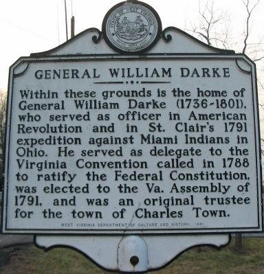General William Darke Marker image. Click for full size.