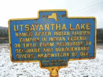 Utsayantha Lake Marker image. Click for full size.