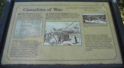 Casualties of War Marker image. Click for full size.
