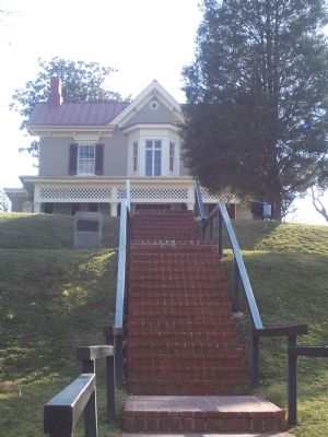Cedar Hill: staircase above Washington, D.C., Black History Trail marker. image. Click for full size.