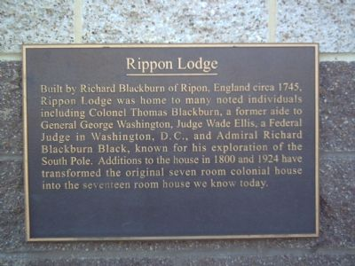 Rippon Lodge Marker image. Click for full size.