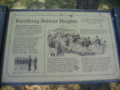 Fortifying Bolivar Heights Marker image. Click for full size.