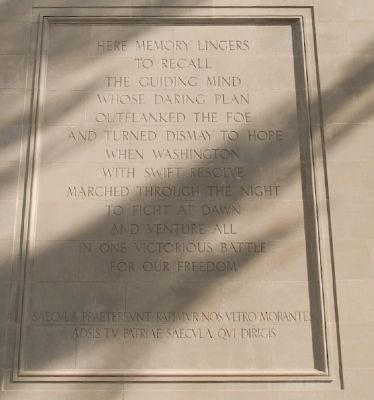 Main Marker on Rear of Monument image. Click for full size.