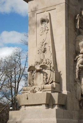Left Side of Princeton Battle Monument image. Click for full size.