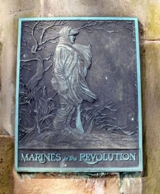 Marines in the Revolution Marker image. Click for full size.