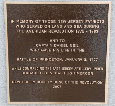 New Jersey Patriots Marker image. Click for full size.