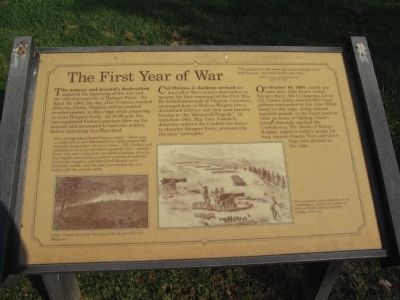 The First Year of the War Marker image. Click for full size.