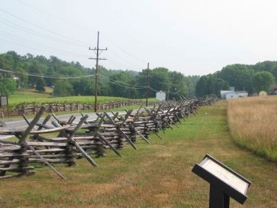 The 111th New York Regiment Marker next to the Bakerton Road image. Click for full size.