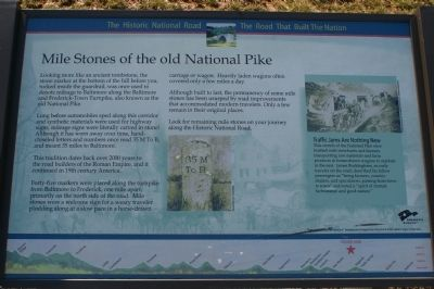 The marker, in Old National Pike District Park image. Click for full size.