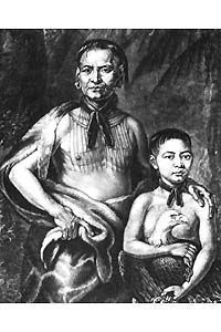 Tomochichi and his nephew, Toonahawi image. Click for full size.