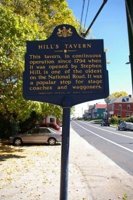 Hill's Tavern Marker, looking east image. Click for full size.