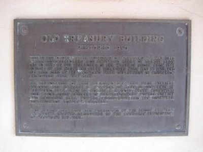 Old Treasury Building Marker image. Click for full size.
