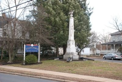 Marker Viewed from Stockton Ave. Heading East image. Click for full size.
