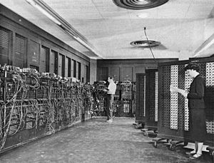 Historic photo of ENIAC image. Click for full size.