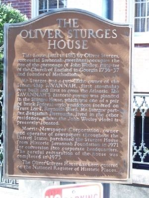 <b> The Oliver Sturges House</b> Marker image. Click for full size.