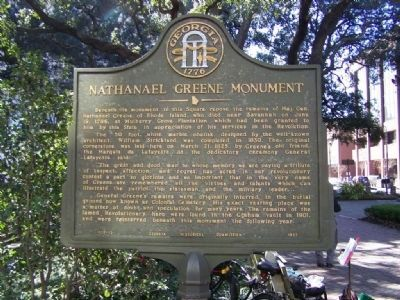 Nathanael Greene Monument Marker image. Click for full size.