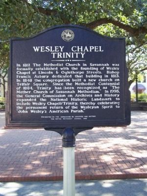 Wesley Chapel Trinity Marker image. Click for full size.