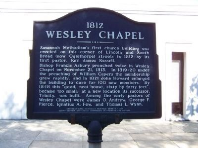 1812 Wesley Chapel Marker image. Click for full size.