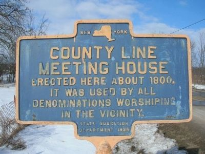 County Line Meeting House Marker image. Click for full size.