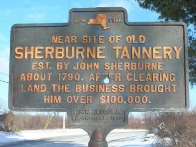 Sherburne Tannery Marker image. Click for full size.