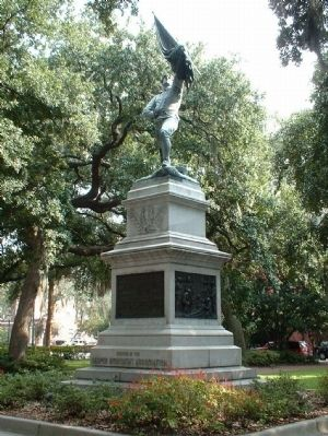 Sgt. Jasper Monument at Madison Square, Savannah image. Click for full size.