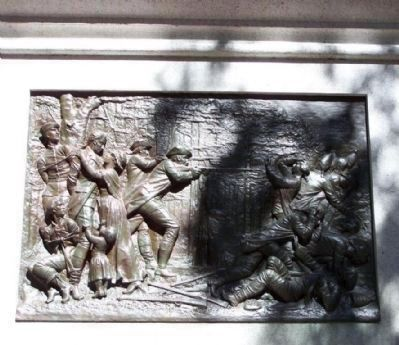 Bas Relief of the Liberation of Patriot prisoners image. Click for full size.