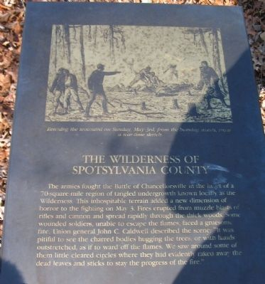 The Wilderness of Spotsylvania County Marker image. Click for full size.