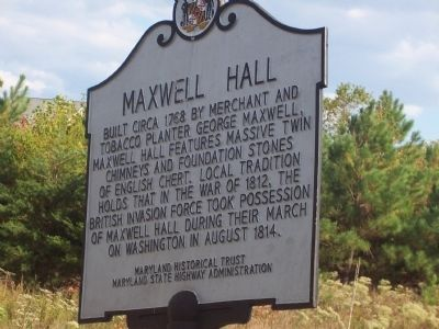 Maxwell Hall Marker image. Click for full size.