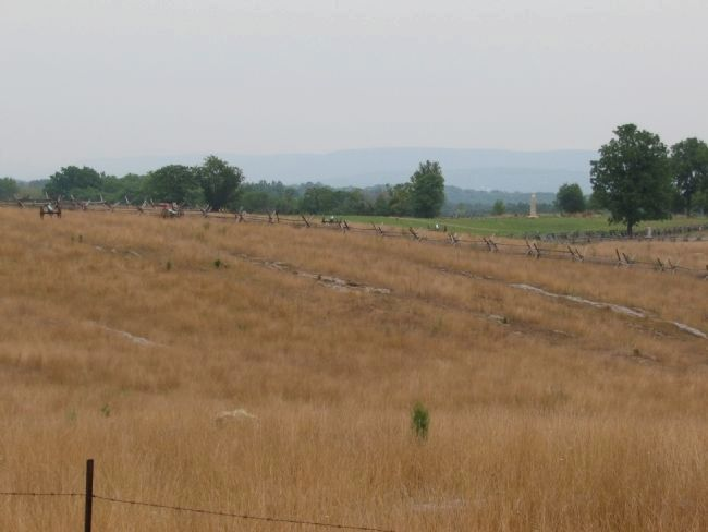 The Bloody Lane (Sunken Road) from the Hagerstown Pike image. Click for full size.