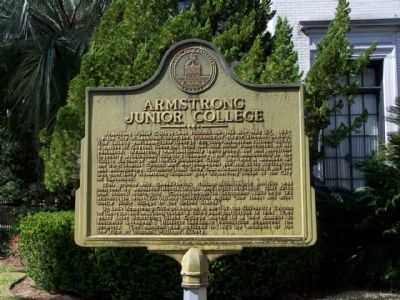 Armstrong Junior College Marker image. Click for full size.
