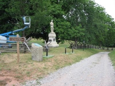 Cluster of Markers and Monuments at the Turn of the Sunken Road image. Click for full size.