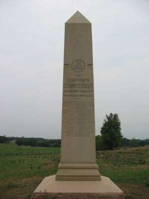 Front Side of 14th Conn. Monument image. Click for full size.