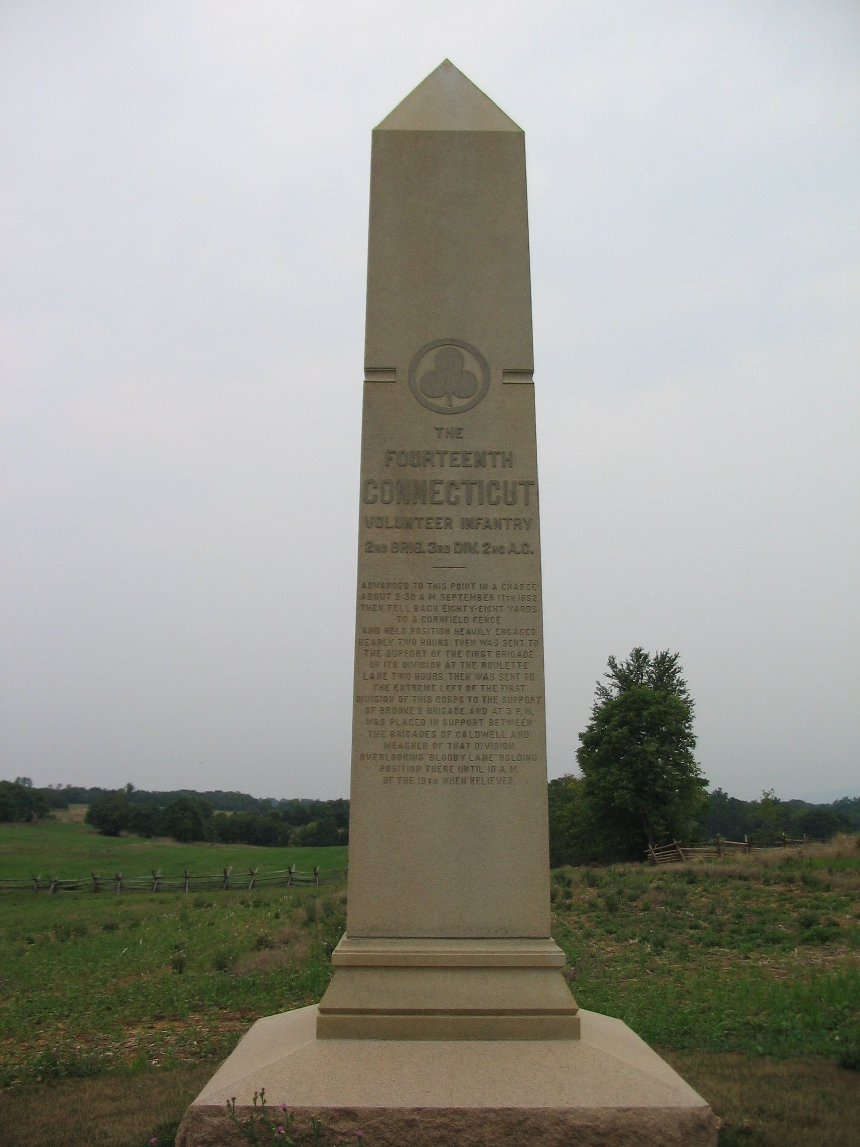 Front Side of 14th Conn. Monument