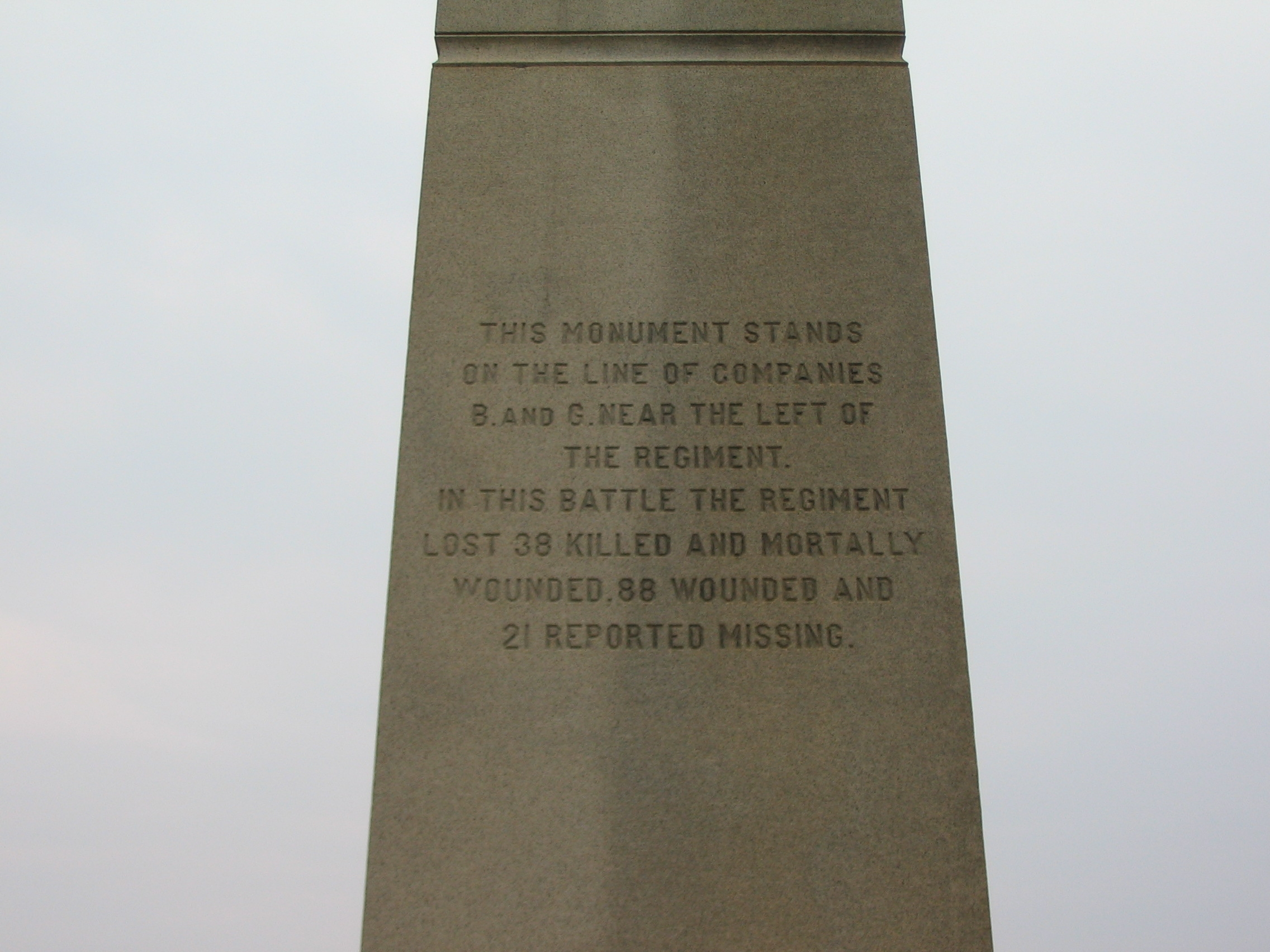 Left Side of Monument