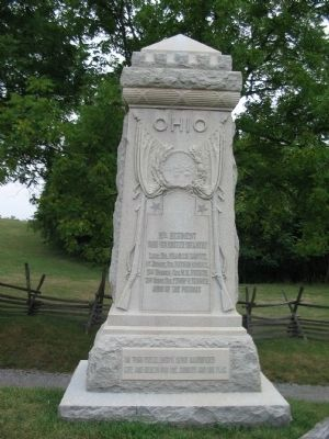 8th Ohio Regiment Monument image. Click for full size.