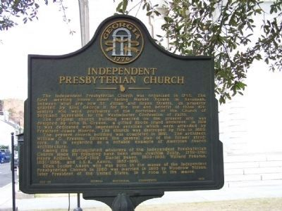 Independent Presbyterian Church Marker image. Click for full size.