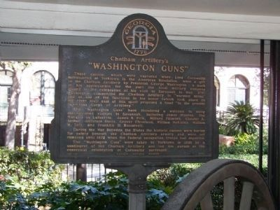 "Chatham Artillery ""Washington Guns"" Marker image. Click for full size."