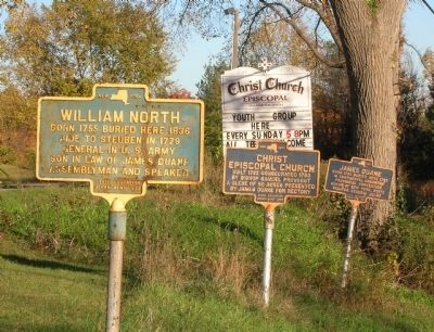 Three Duanesburg Markers image. Click for full size.