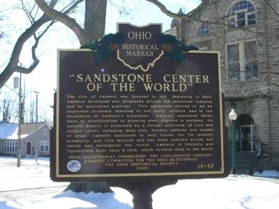 Sandstone Center of the World Marker image. Click for full size.