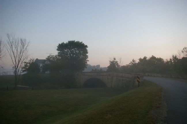 Salt Fork S-Bridge, as seen from the west, at dawn image. Click for full size.