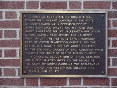 Brunswick Town State Historic Site Marker image. Click for full size.