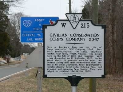 Civilian Conservation Corps Company 2347 image. Click for full size.
