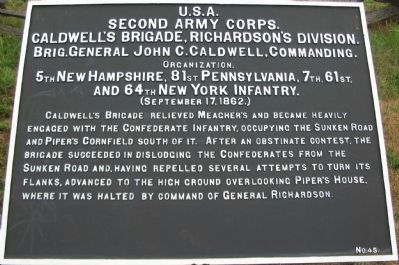 Second Army Corps Marker image. Click for full size.