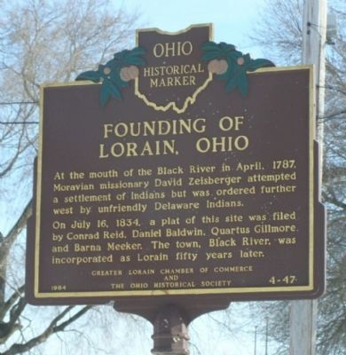 Founding of Lorain, Ohio Marker image. Click for full size.