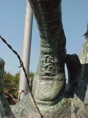 Spirit of the American Doughboy (front foot detail) image. Click for full size.
